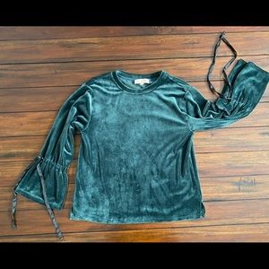 Philosophy Velour Bell Sleeve Top Size Small